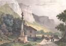 Gottfried Engelmann – 19th Century Lithograph – Village of Maglan, Switzerland