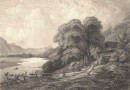 Antique Engraving – Swiss Landscape – From Golzweil to Interlaken