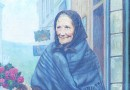 Old Woman with a Bouquet – 1913 Oil on Canvas signed Kossy