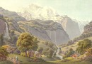 View of the Jungfrau – Lory Engraving circa 1850