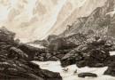 Mount Moro Alpine Landscape Valais, Switzerland by Jakob Lorenz Rüdisühli