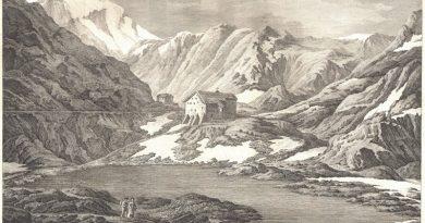 Hospice de San Bernard From the Aosta Side 18th Century Engraving