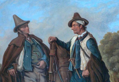 Two Italian Musicians – 19th Century Oil on Board