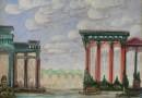 """Heinrich Nüsslein – Visionary Landscape by Artist-Medium – """"Friedensfuersten (Sold)"""