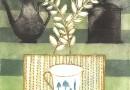 Louttre B – La Tasse de The – Cup of Tea – Orig. Engraving