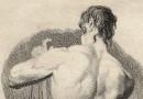 Classical Male Nude –  18th Century Engraving by Johann Friedrich Bolt