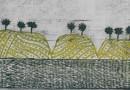 """Louttre B – """"Paysage des Causses"""" – Original Engraving"""