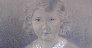 Portrait of a Young Girl – Pencil and Chalk Drawing