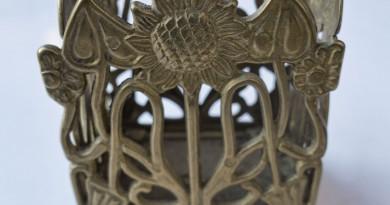 Art Nouveau Sunflower Container