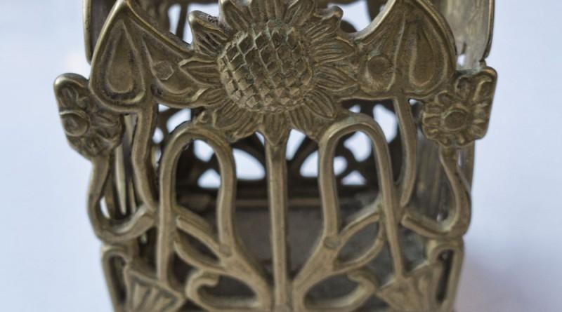 Art Nouveau Sunflower Container