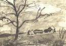Ernst Morgenthaler – Signed Original Lithograph – Harvest Scene