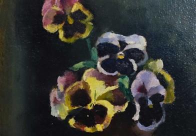 Maurice Asselin – Pansies, Still Life – Oil on Canvas