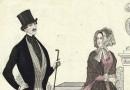 Pariser Moden – Elegant Biedermeier Couple Antique Fashion Plate
