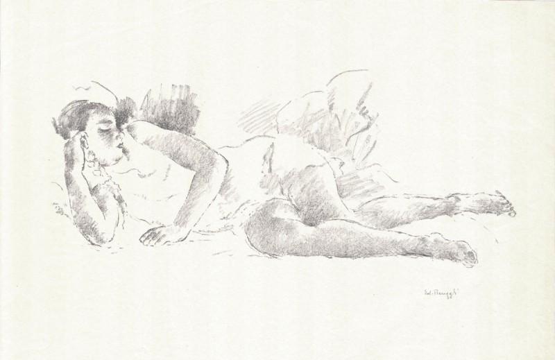Hans Renggli - Nude - Original Lithograph