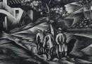 "Aldo Patocchi – ""The Return"" – Original Art Deco Woodblock Print"