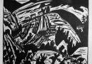 Hermann Scherer – Expressionist Hillside – Woodcut
