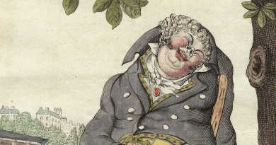 The Gastronome After Lunch – Caricature by James Gillray
