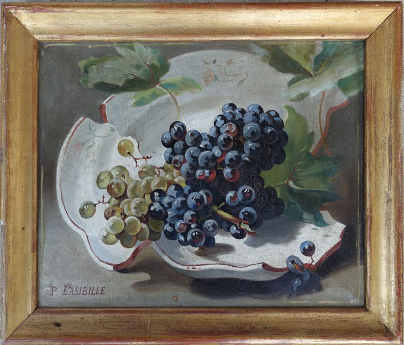 Lasibille Still Life with Grapes
