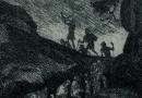 Albert Welti – Glueckwunsch 1904 Engraving