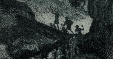 Engraving by Swiss Artist Albert Welti