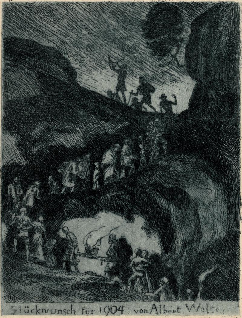 Albert Welti - Gluckwuench - New Year's Card