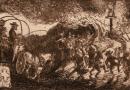 Albert Welti – Return to the Homeland – 1908 Engraving