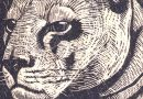 Richard Flockenhaus – Puma or Cougar Woodblock Print