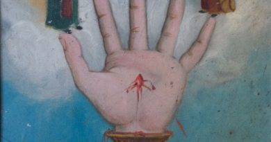 La Mano Poderosa – Hand of God  – Small Retablo Religious Painting