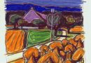Fred Stauffer – Country Hamlet -Original Pastel Drawing