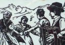 Original Woodblock Print – Alpine Dancers