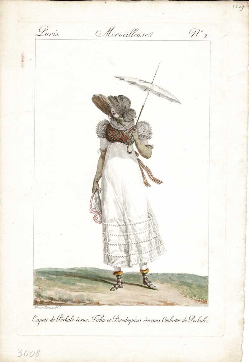 Une Merveilleuse - Plate 2 - Woman with Parasol