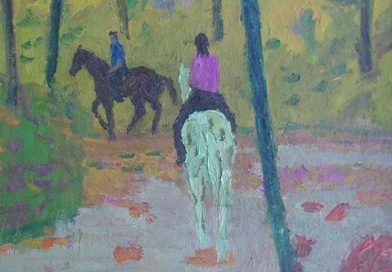 Leo Deck – Horseback Riders on Forest Trail