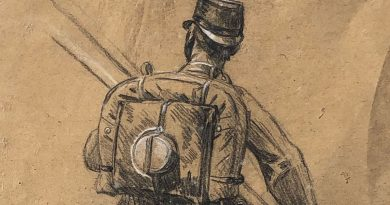 Standing Soldier – Drawing by Josef Klemens Kaufmann