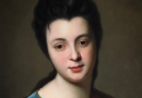 Detail of an 18th Century Portrait of Genevieve Blanchot