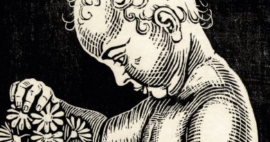 Richard Flockenhaus – Child Playing with Daisies