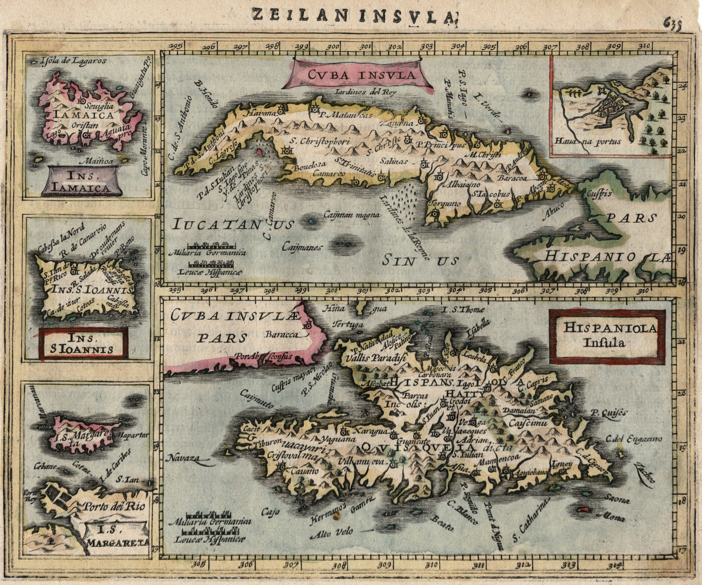 Map of Caribbean Islands