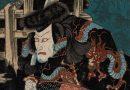 Samurai Warrior in a Dragon Robe by Kuniyoshi Utagawa – Japanese Woodblock Print