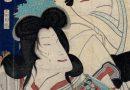 Kunichika – Japanese Woodblock Print – Two Kabuki Figures