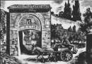 The Medieval Gateway of Porta San Giorgio in Florence – Woodcut by Fritz Urban Welti