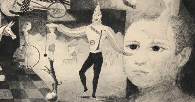 Zdenka Datheil Circus Scene Original Lithograph
