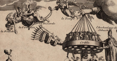17th Century French Allegorical Engraving – French Jansenists and Rome